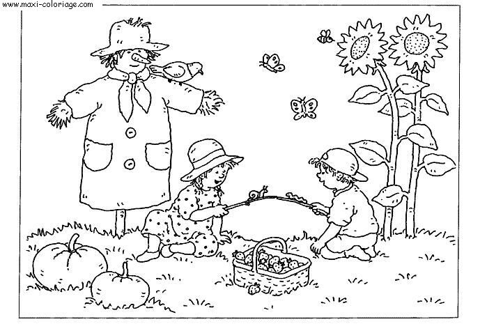 Colorier l 39 automne - L automne dessin ...