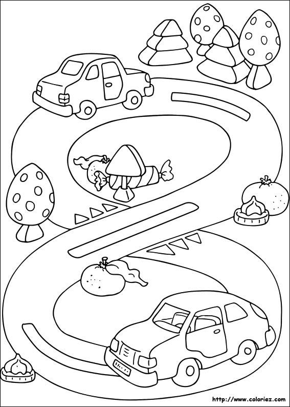 coloriage à dessiner cars hugo l'escargot
