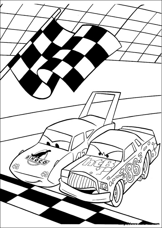 dessin à colorier cars holley