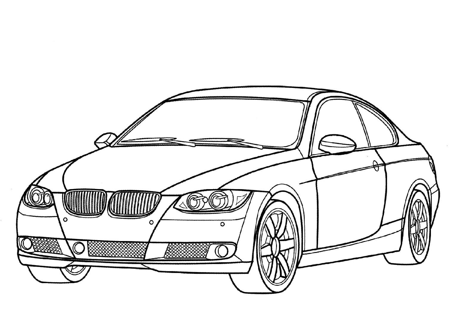 coloriage à dessiner automobile-voiture