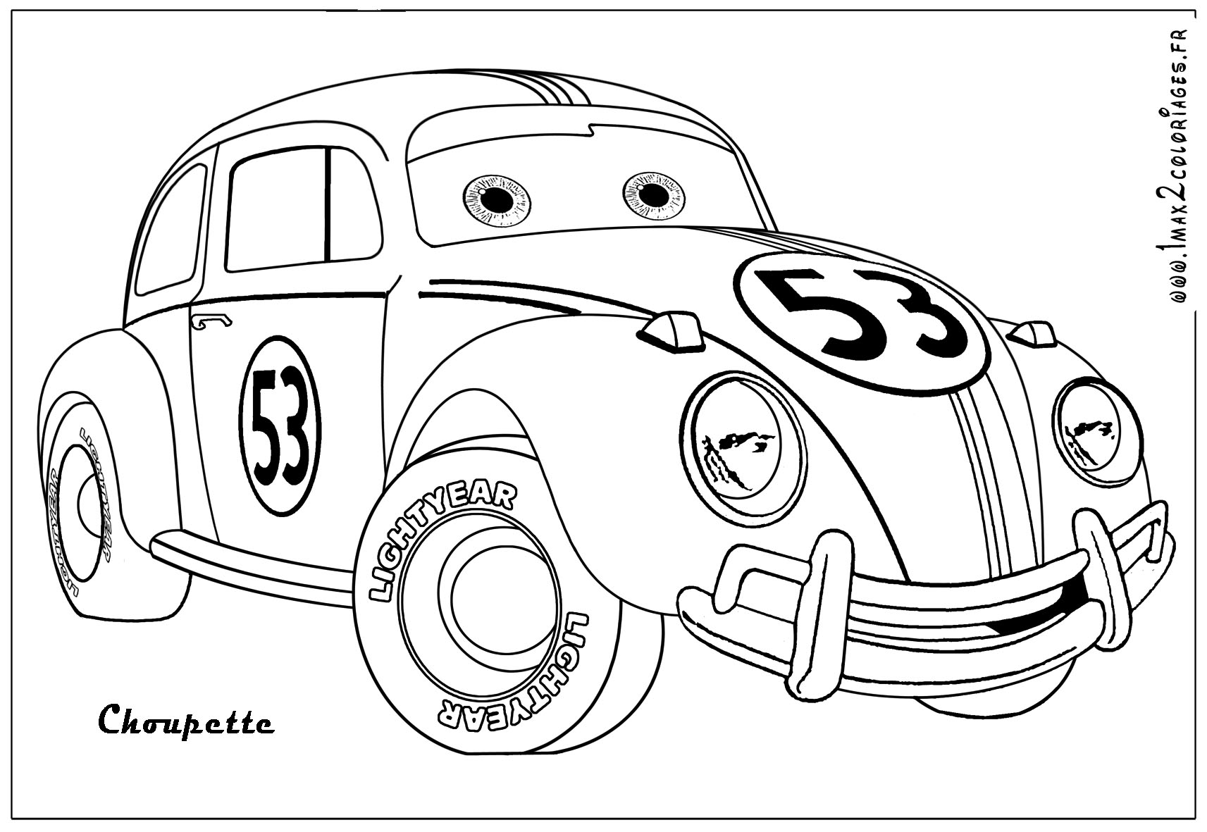 Herbie Car Coloring Pages : Herbie the coloring pages