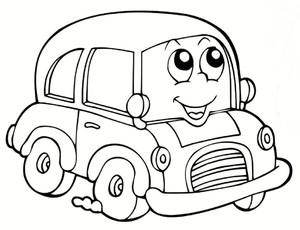 dessin à colorier a imprimer automobile