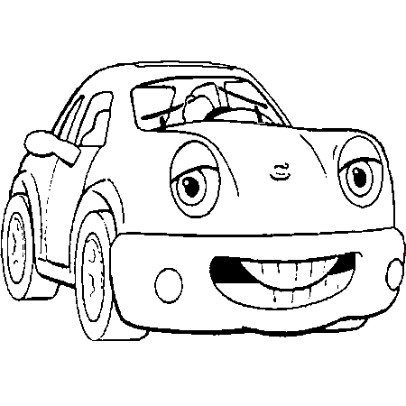 dessin à colorier cars hugo l'escargot