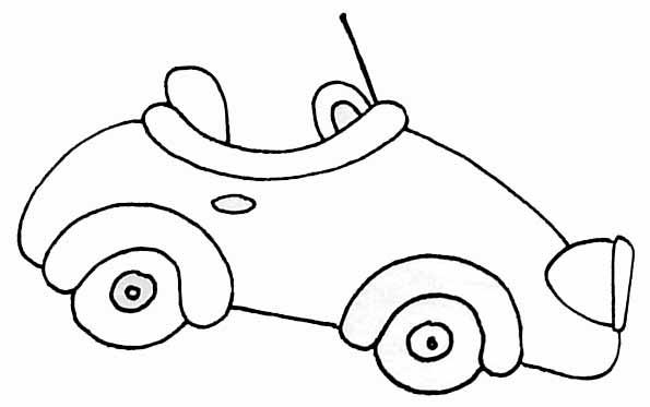 dessin à colorier automobile