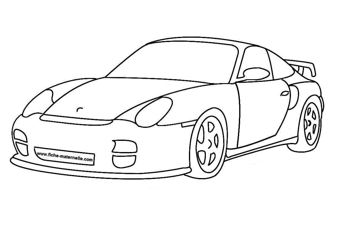 20 dessins de coloriage autos imprimer for Plans de dessins de porche