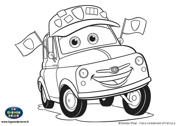 Coloriage auto tamponneuse - Coloriages de cars ...