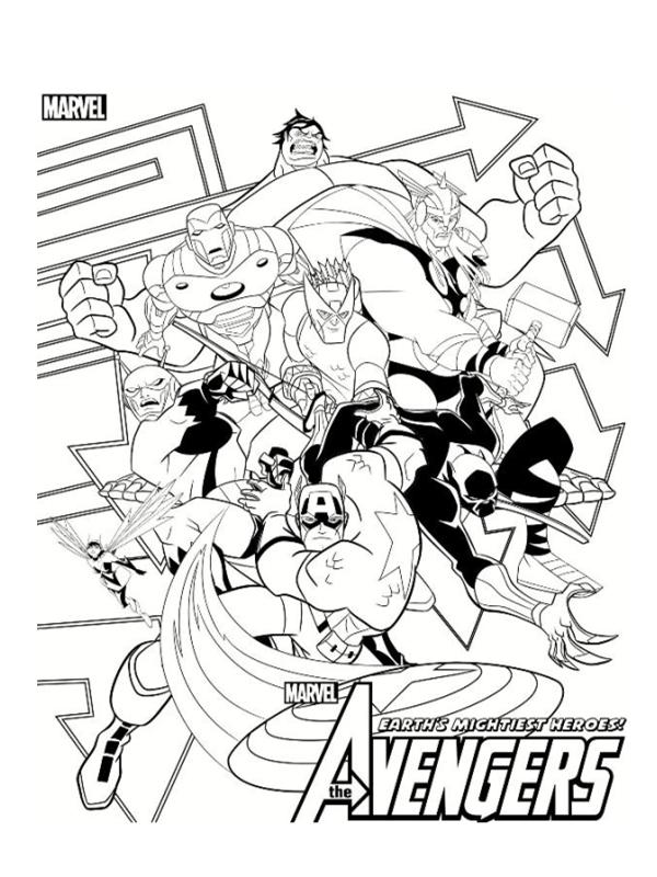 dessin à colorier avengers 2