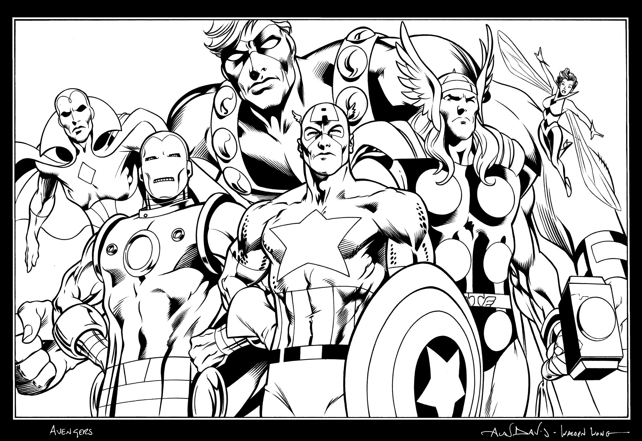 dessin avengers hulk
