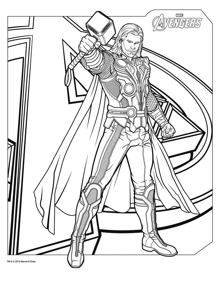 dessin à colorier avengers le film a imprimer