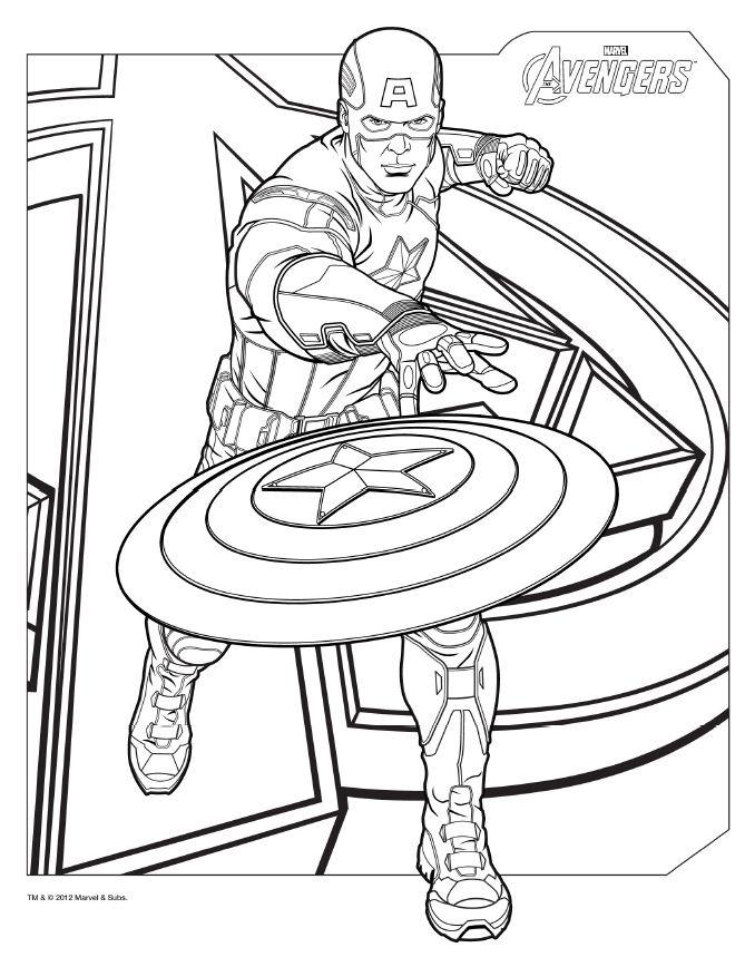 dessin à colorier de avengers a imprimer