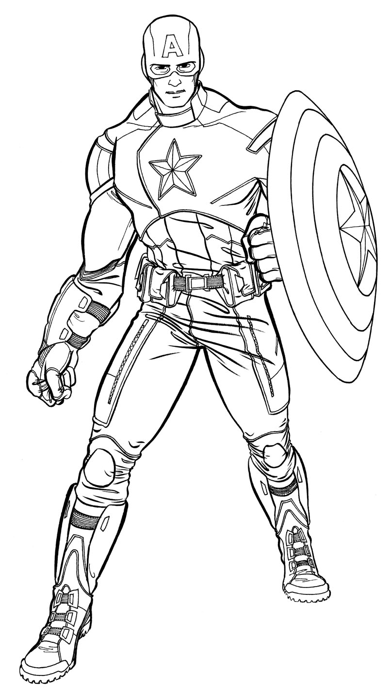 coloriage avengers captain