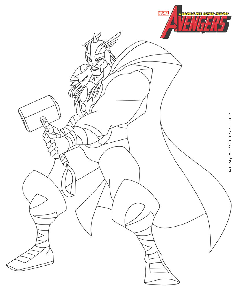 dessin de avengers en ligne