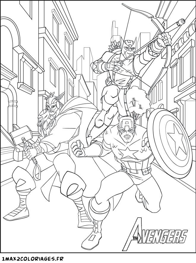 dessin à colorier avengers le film