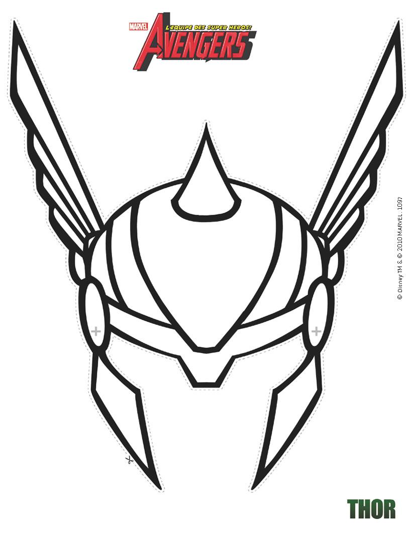 coloriage à dessiner magique avengers