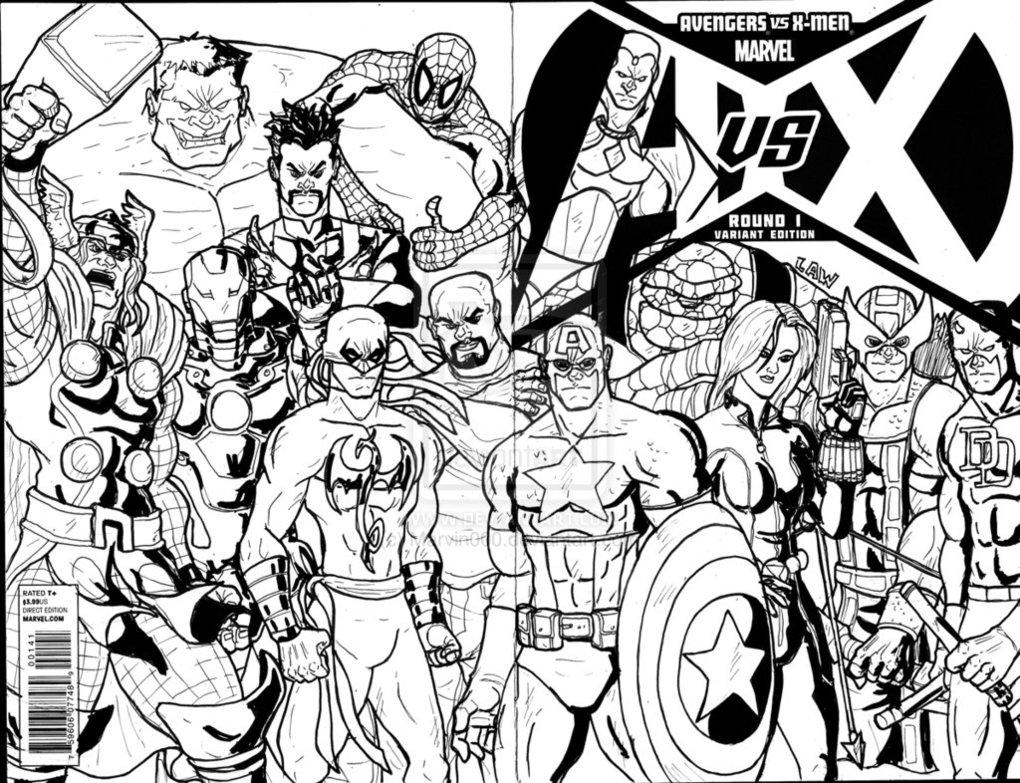 dessin coloriage avengers
