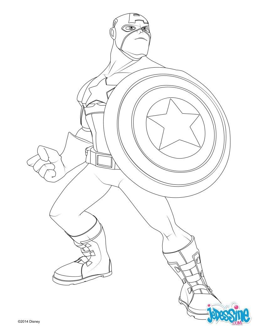 dessin à colorier a imprimer avengers le film