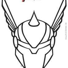 dessin à colorier natacha avengers