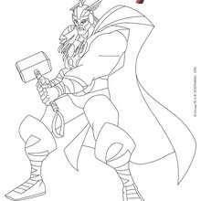 dessin à colorier de avengers