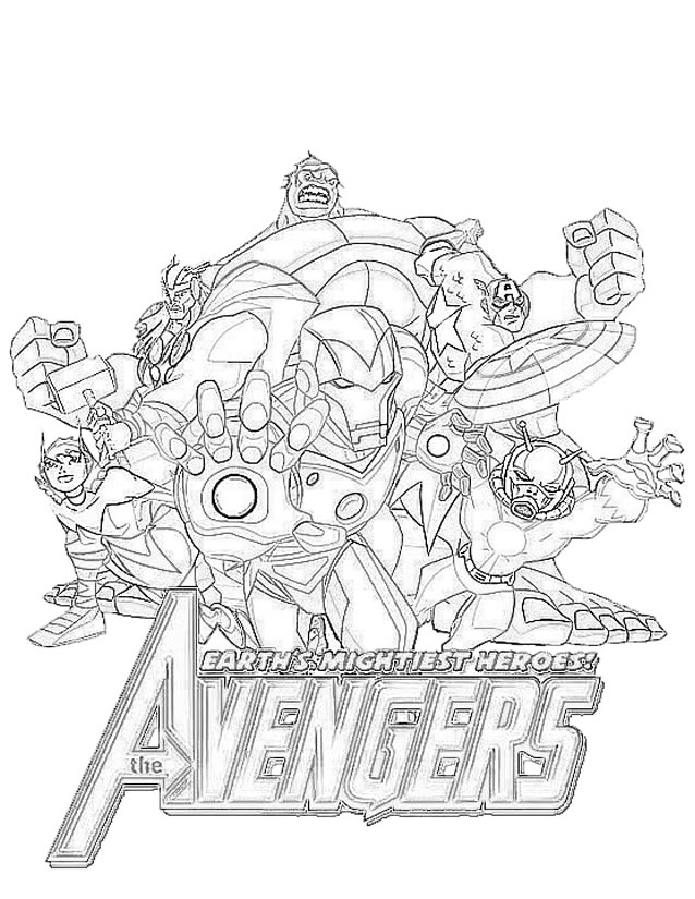 coloriage avengers 2