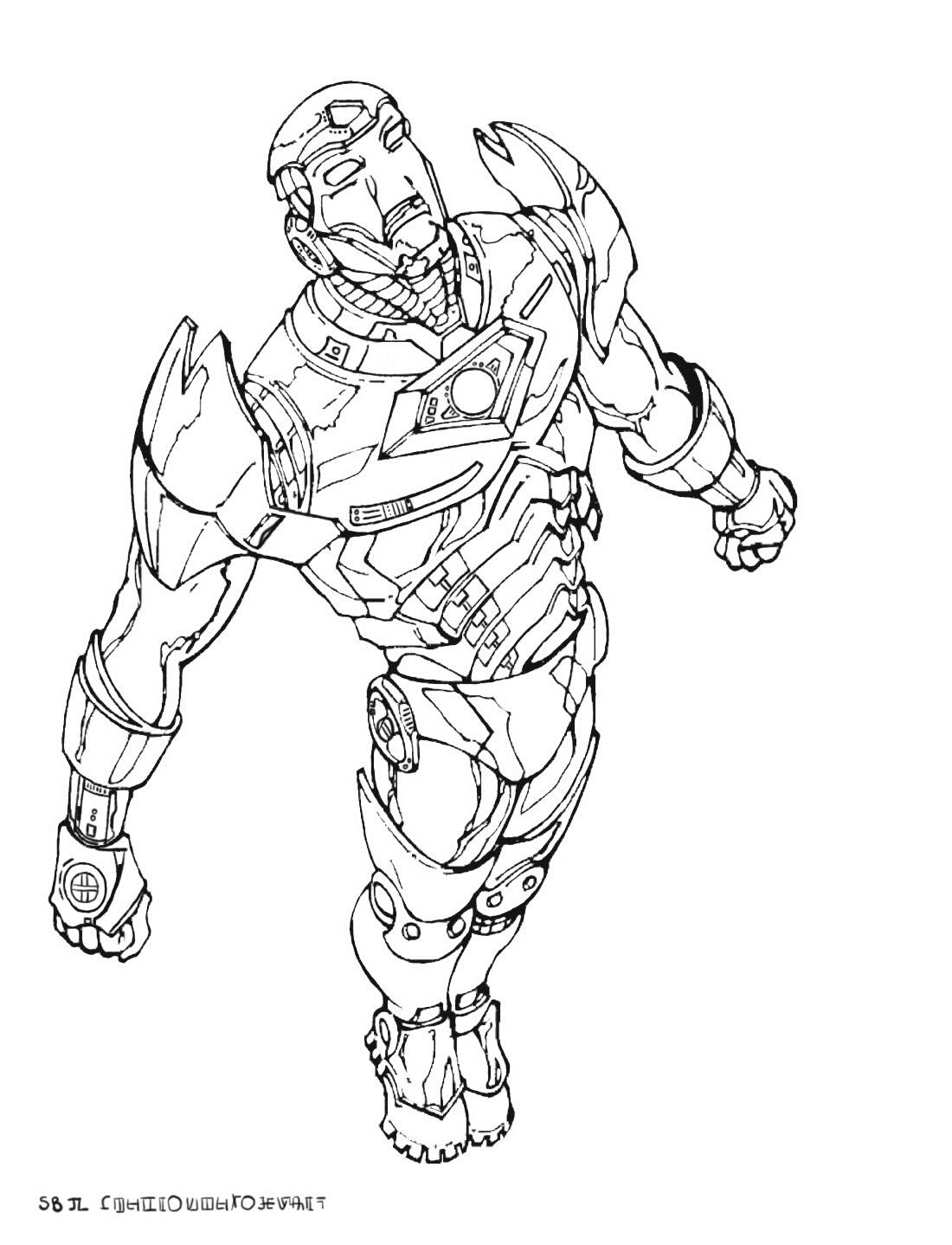 Dessin avengers iron man - Ironman coloriage ...