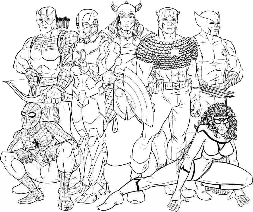 avengers en coloriage