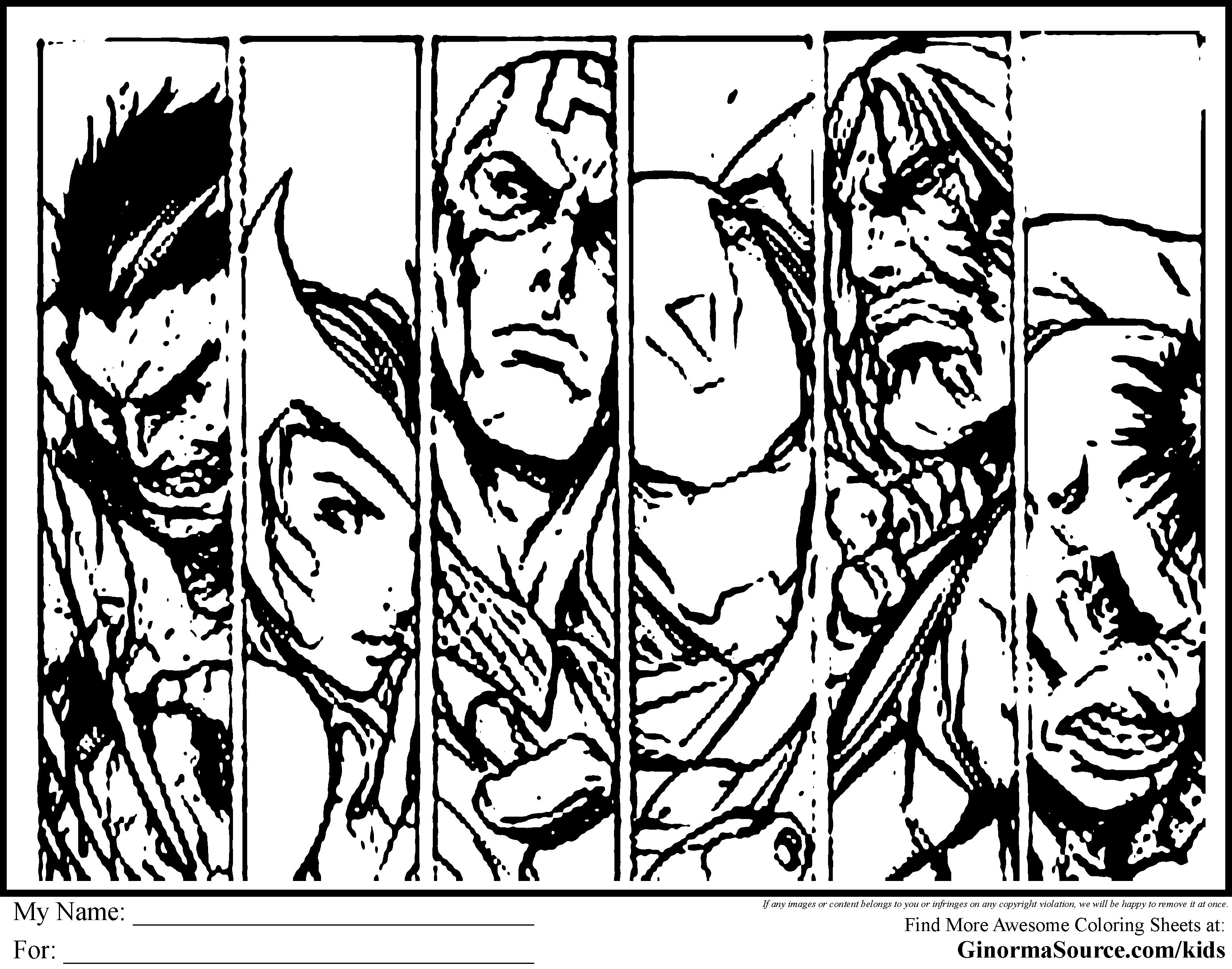 dessin à colorier a imprimer de avengers gratuit