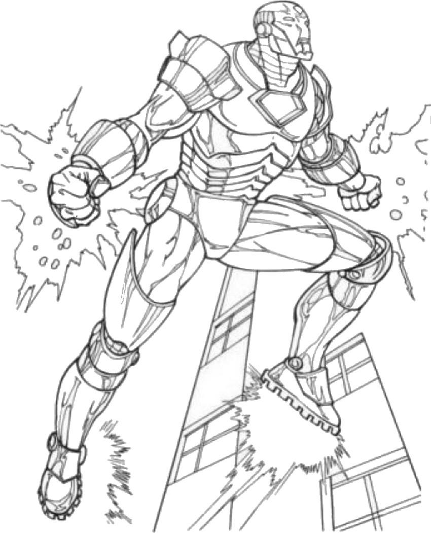 coloriage à dessiner avengers thor