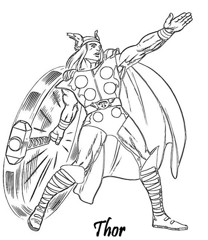 coloriage à dessiner à imprimer avengers