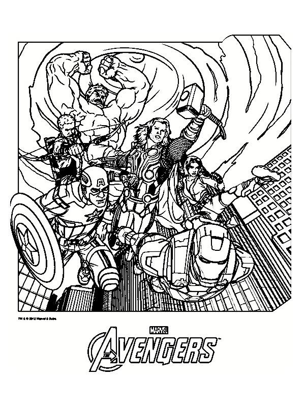dessin à colorier avengers hulk