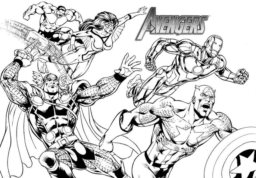 Coloriage à Dessiner Avengers Captain