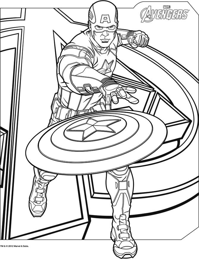 Coloriage A Imprimer Avengers