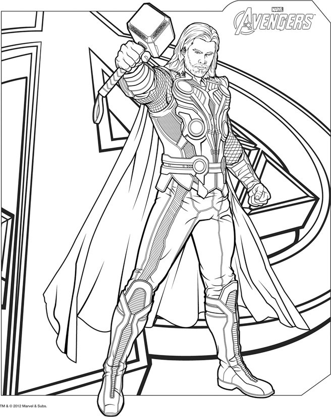 coloriage online avengers