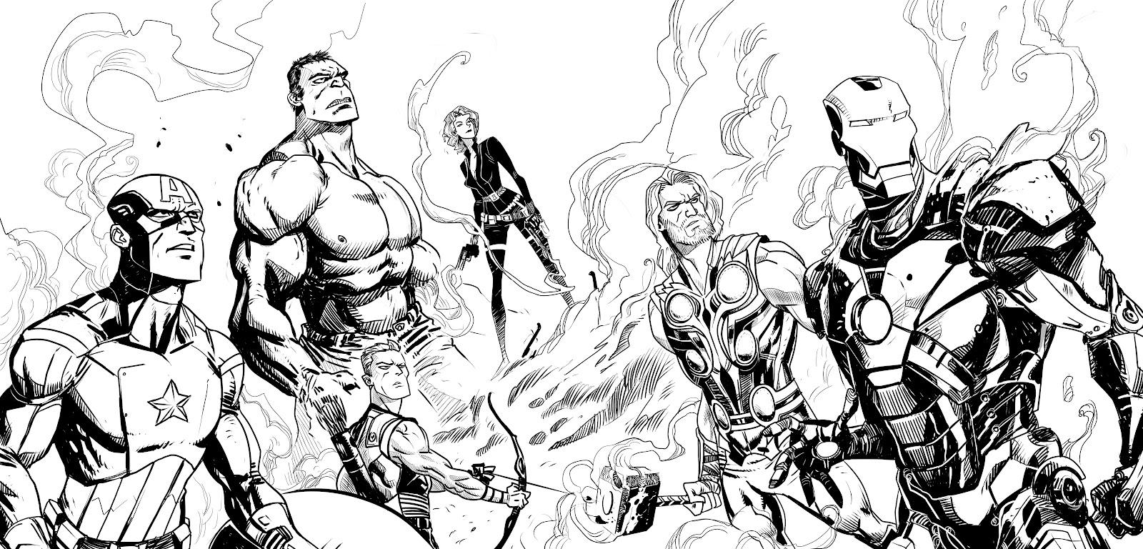 dessin avengers iron man