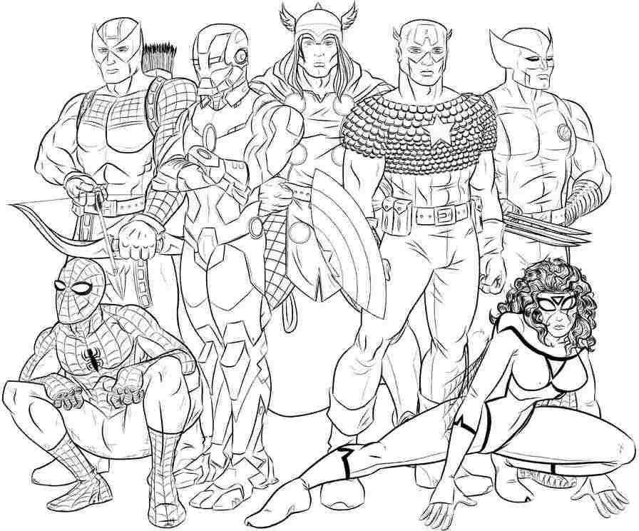 coloriage à dessiner de avengers gratuit