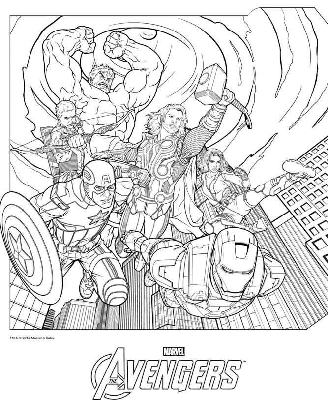 coloriage dessiner online avengers