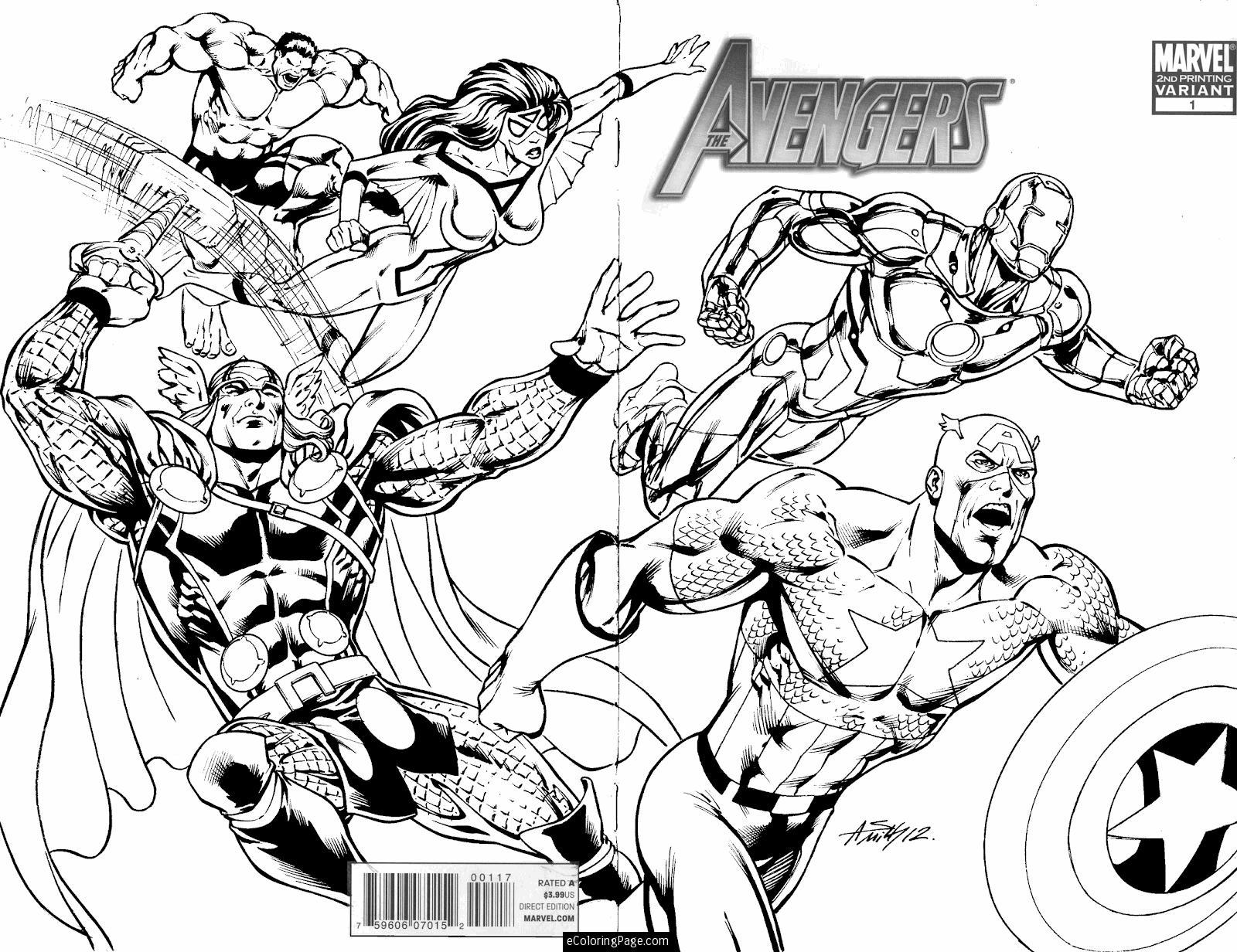 dessin à colorier avengers captain