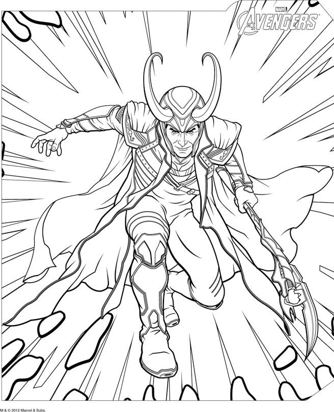 dessin à colorier avengers faucon