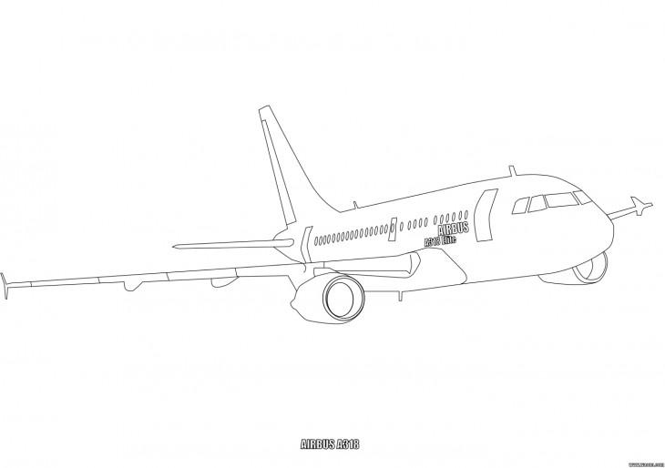 12 dessins de coloriage avion a380 imprimer - Dessin de avion ...