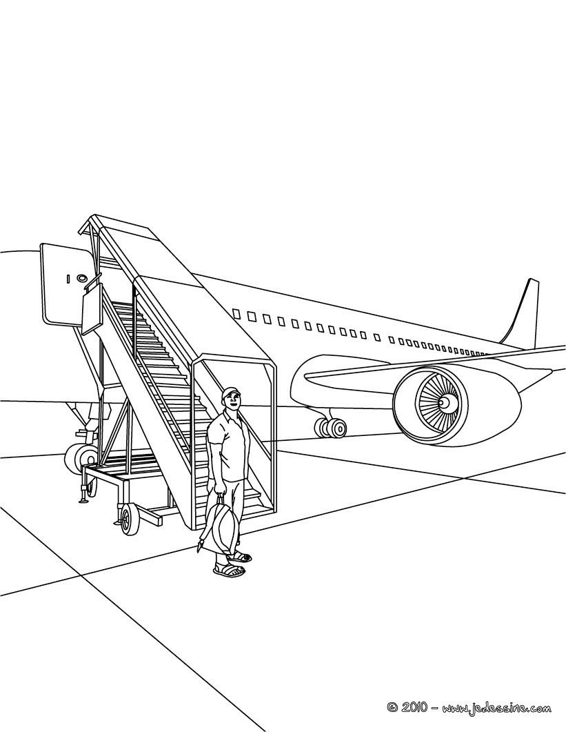 12 dessins de coloriage avion en ligne imprimer - Dessin porte avion ...