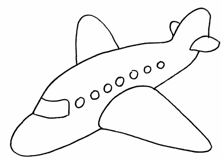 8 dessins de coloriage avion facile imprimer - Dessin de avion ...