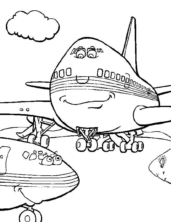 hugo l'escargot dessin à colorier avion