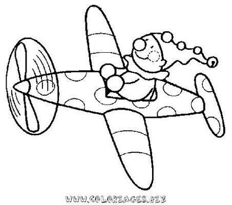 coloriage l'avion