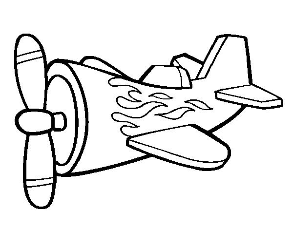 dessin à colorier avion 2 ans