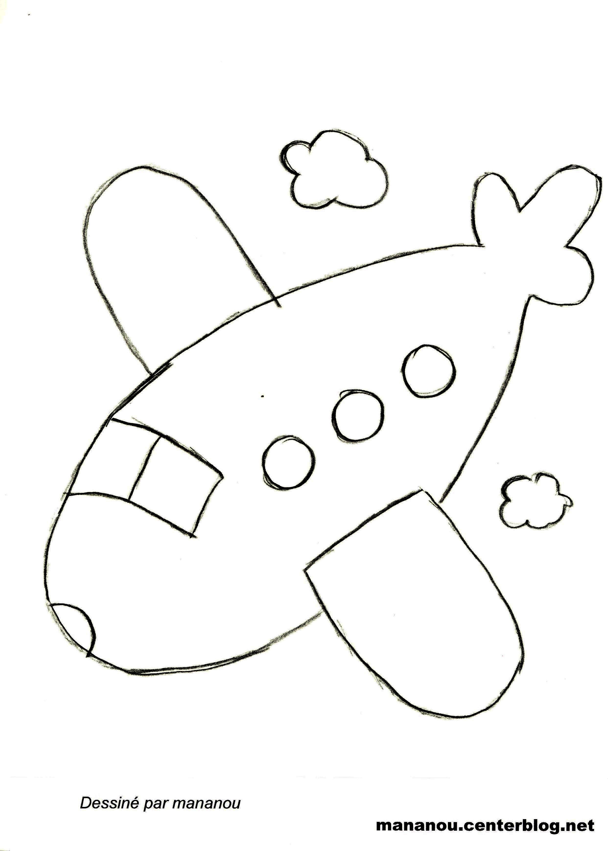 coloriage avion de voltige