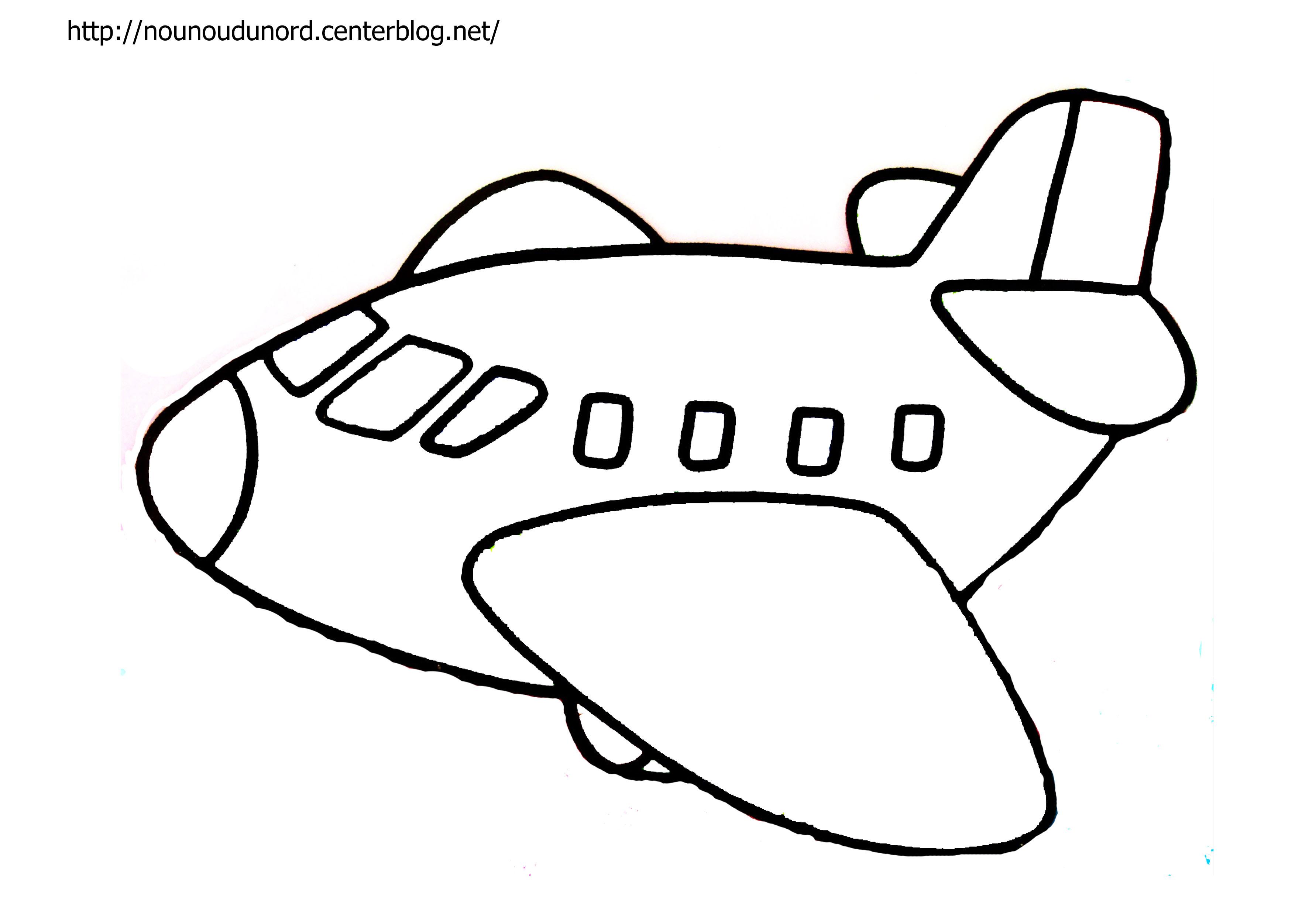 dessin à colorier avion hugo l'escargot