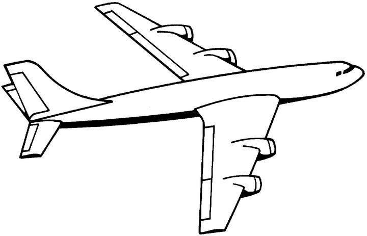dessin à colorier avion à imprimer