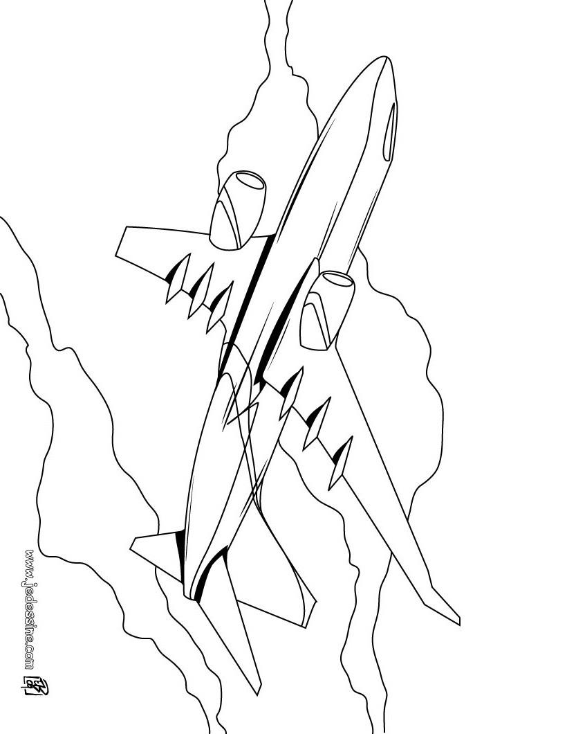 coloriage à dessiner avion à imprimer gratuit