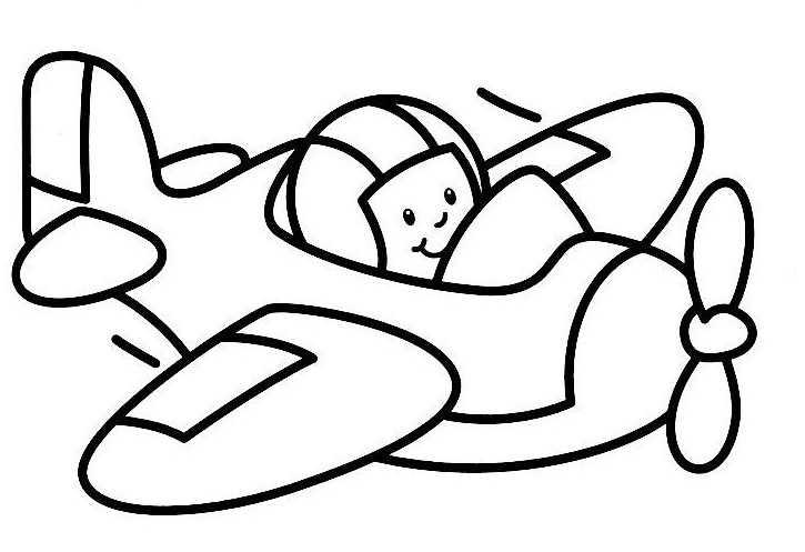 coloriage à dessiner oui oui en avion