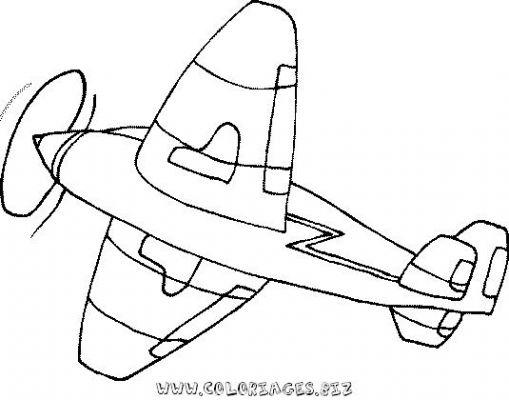 dessin à colorier avion de ligne a imprimer