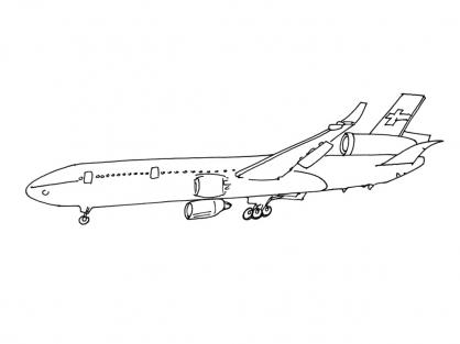 coloriage à dessiner un avion